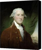 Founding Father Canvas Prints - President George Washington  Canvas Print by War Is Hell Store