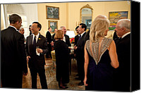 Bswh052011 Canvas Prints - President Obama And Chinese President Canvas Print by Everett