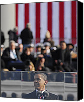 Bswh052011 Canvas Prints - President Obama Delivers His Inaugural Canvas Print by Everett