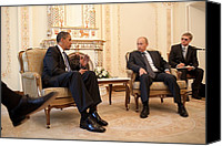 Bswh052011 Canvas Prints - President Obama Meets With Russian Canvas Print by Everett