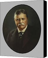 President Painting Canvas Prints - President Theodore Roosevelt  Canvas Print by War Is Hell Store