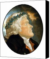 Declaration Of Independence Canvas Prints - President Thomas Jefferson Canvas Print by War Is Hell Store