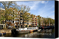 Boathouse Canvas Prints - Prinsengracht Canvas Print by Fabrizio Troiani