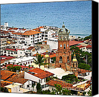 Pacific Canvas Prints - Puerto Vallarta Canvas Print by Elena Elisseeva