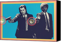 Celeb Canvas Prints - Pulp Fiction Canvas Print by Cassius Cassini