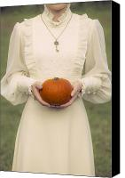 Cream Dress Canvas Prints - Pumpkin Canvas Print by Joana Kruse