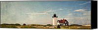 Impressionism Photo Canvas Prints - Race Point Light Canvas Print by Bill  Wakeley