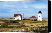 Race Point Canvas Prints - Race Point Lighthouse Canvas Print by John Greim