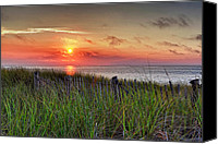 Cape Cod Canvas Prints - Race Point Sunset Canvas Print by Bill  Wakeley
