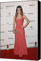 Black Tie Photo Canvas Prints - Rachel Bilson Wearing A Zac Posen Dress Canvas Print by Everett
