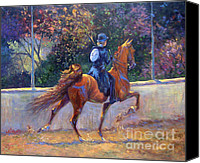American Saddlebred Art Canvas Prints - Rack On Canvas Print by Jeanne Newton Schoborg