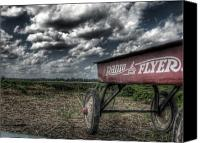 Photograhy Canvas Prints - Radio Flyer Canvas Print by Jane Linders