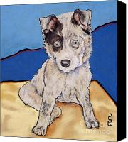 Pet Portrait Pastels Canvas Prints - Reba Rae Canvas Print by Pat Saunders-White