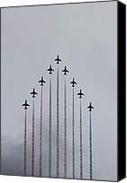 Raf Canvas Prints - Red Arrows vertical Canvas Print by Jasna Buncic