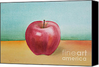 Kim Bird Canvas Prints - Red Delicious Canvas Print by Kim Bird