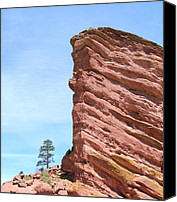 Colorado Pyrography Canvas Prints - Red Rocks Canvas Print by Arlene Carmel