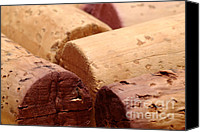 Napa Valley Canvas Prints - Red Wine Corks Canvas Print by Frank Tschakert