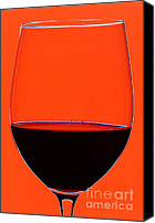 Wine Glass Photo Canvas Prints - Red Wine Glass Canvas Print by Frank Tschakert