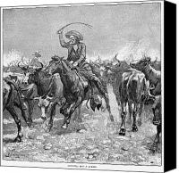 Remington Canvas Prints - Remington: Cowboys, 1888 Canvas Print by Granger