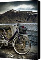 Lago Canvas Prints - Retro Bike Canvas Print by Joana Kruse
