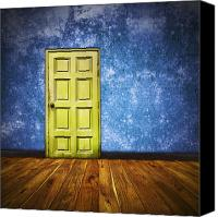 Door Canvas Prints - Retro Room Canvas Print by Setsiri Silapasuwanchai