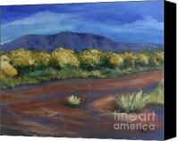 Rafael Gonzales Canvas Prints - Rio Grande Bosque Canvas Print by Rafael Gonzales