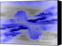 Grey Clouds Digital Art Canvas Prints - Ripples Canvas Print by Jeff Breiman