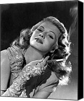 Opera Gloves Photo Canvas Prints - Rita Hayworth, Columbia Pictures, 1940s Canvas Print by Everett