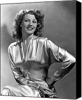 Satin Dress Canvas Prints - Rita Hayworth, Portrait Canvas Print by Everett