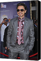 Gray Suit Canvas Prints - Robert Downey Jr. At Arrivals Canvas Print by Everett