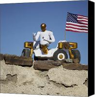 Dexterity Canvas Prints - Robonaut 2 Poses Atop Its New Wheeled Canvas Print by Stocktrek Images