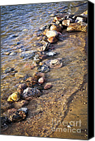 Pebbles Canvas Prints - Rocks in water Canvas Print by Elena Elisseeva
