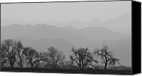 Continental Divide Canvas Prints - Rocky Mountain Haze Panorama Canvas Print by James Bo Insogna