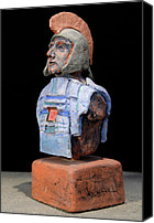 Warriors Ceramics Canvas Prints - Roman Legionaire - Warrior - ancient Rome - Roemer - Romeinen - Antichi Romani - Romains - Romarere Canvas Print by Urft Valley Art