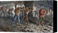 Oppression Canvas Prints - Roman Slavery: Coal Mine Canvas Print by Granger