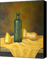Pamela Allegretto-franz Canvas Prints - Roman Table Canvas Print by Pamela Allegretto