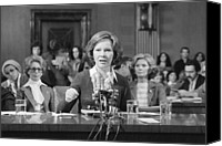 First Ladies Canvas Prints - Rosalynn Carter Testifies Before Senate Canvas Print by Everett