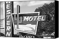 Ok Canvas Prints - Route 66 - Western Motel Canvas Print by Frank Romeo