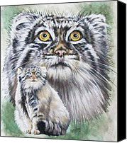 Wildcats Canvas Prints - Rowdy Canvas Print by Barbara Keith