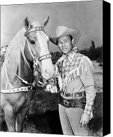 Portrait Photo Canvas Prints - Roy Rogers (1912-1998) Canvas Print by Granger