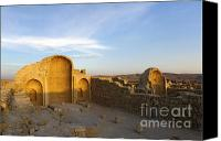 Byzantine Photo Canvas Prints - Ruins of Shivta Byzantine Church Canvas Print by Nir Ben-Yosef