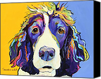 Dog Glass Canvas Prints - Sadie Canvas Print by Pat Saunders-White