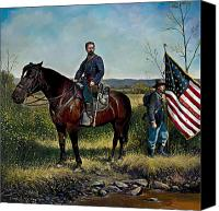 Rebel Mixed Media Canvas Prints - Samuel Fletcher Cheney Canvas Print by Jeff Trexler