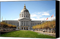 Frisco Canvas Prints - San Francisco City Hall - Beaux Arts at its best Canvas Print by Christine Till