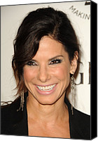 Dangly Earrings Canvas Prints - Sandra Bullock Wearing Irit Design Canvas Print by Everett