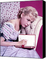 1950s Fashion Canvas Prints - Sandra Dee, C. 1959 Canvas Print by Everett