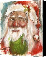 Father Christmas Canvas Prints - Santa 2011 Canvas Print by Tracy E Flynn