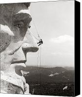 Ambition Canvas Prints - Scaling Mount Rushmore Canvas Print by Granger