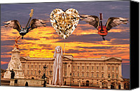 Buckingham Palace Digital Art Canvas Prints - Scream Queen Canvas Print by Eric Kempson