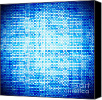 Aqua Photography Canvas Prints - Seamless honeycomb pattern Canvas Print by Setsiri Silapasuwanchai